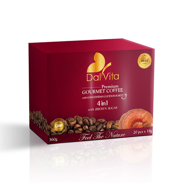 Gano cafe 4in1 Dalvita cu 12% ganoderma
