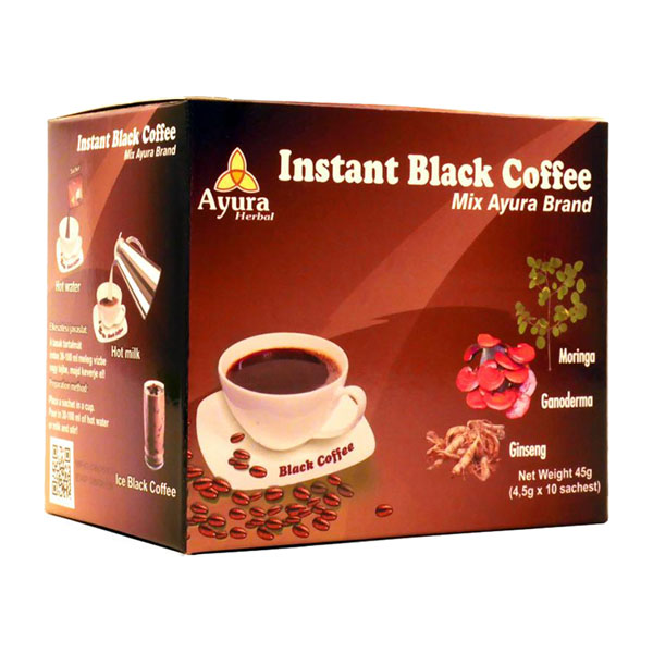 ayura herbal instant black coffee mix