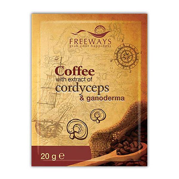 cafea terapeutica cu extract de cordyceps si ganoderma 1 plic